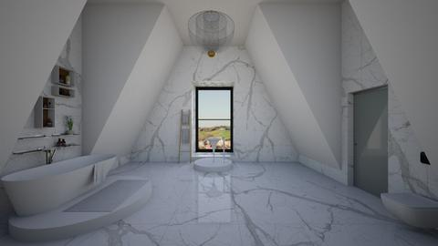 attic bathroom - Minimal - Bathroom  - by kitty