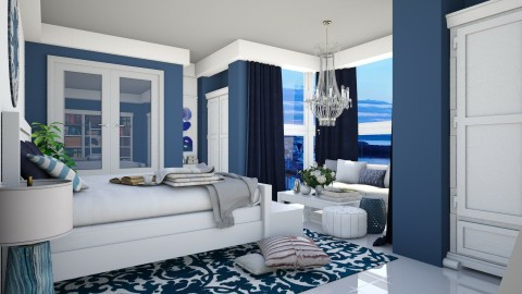 Blue Marine Bedroom - Bedroom  - by Thea44