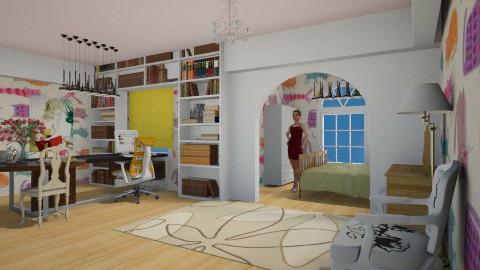girl room - Glamour - Bedroom - by Karine Hakobayan