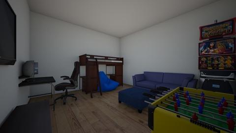 dream gaming room - Bedroom  - by abluemel2027