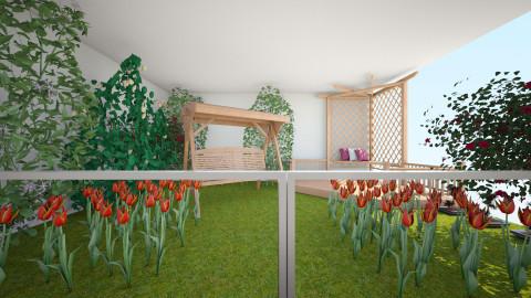 the bedroom backyard - Garden - by bossashady
