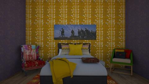 Indian Sleeping - Bedroom  - by theIrishdog