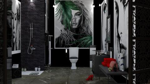 Little black bathroom - Bathroom - by nat mi