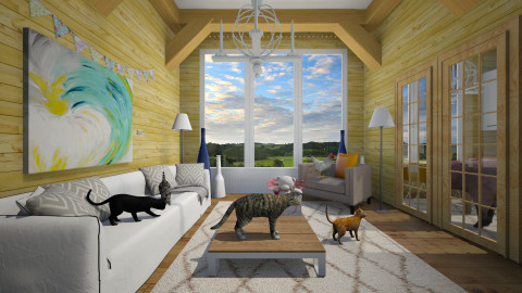 animal party - Country - Living room - by Evangeline_The_Unicorn