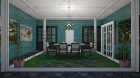 Inside dining garden - Dining room - by tompert