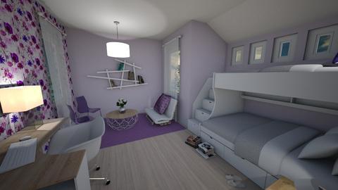 Purple Teen Bedroom - Minimal - Bedroom  - by pfeilswdm