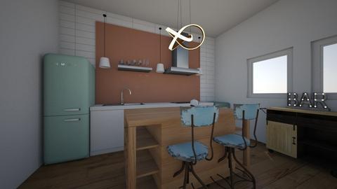 Fun Dorm Room Kitchen - Kitchen  - by Georgiaandres