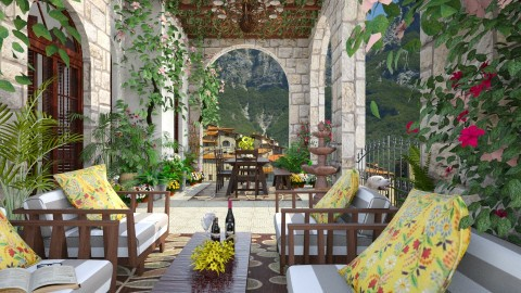 Design 94 Patio in Tuscany - Garden  - by Daisy320