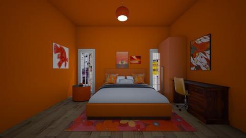orange room - Bedroom  - by MomoBeag