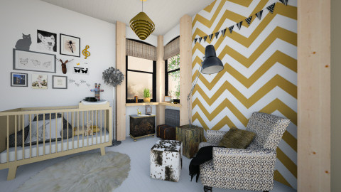 Golden Nursery - Eclectic - Kids room  - by evahassing