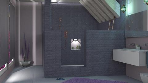 lavander bathroom 01 - Retro - Bathroom  - by nat mi