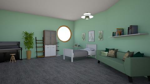 the GREEN room - Classic - Bedroom  - by aschaper