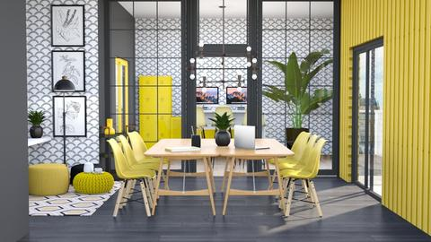Yellow Working Space - Office  - by Victoria_happy2021