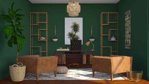 Boho Office Inspo - Office - by AmyDeRochie