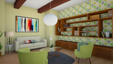 MidCentury Living Room 1b - Retro - Living room  - by corbu_cat
