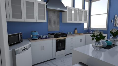 Blueberry kitchen - Kitchen  - by lgrdic