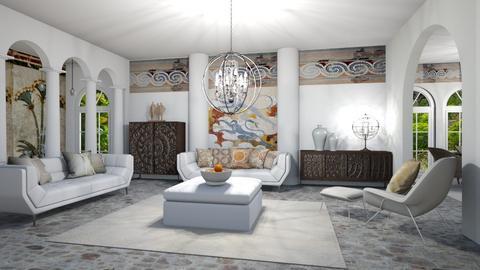 Matilda's modern greek livingroom - by Matilda de Dappere