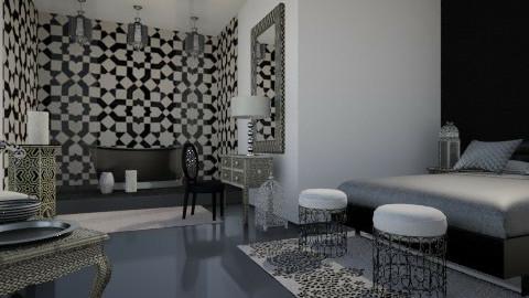 Moroccan Hotel Room - Modern - Bedroom - by SariJo
