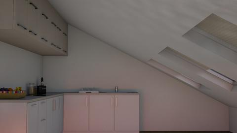 TIny Attic Kitchen - Modern - Kitchen  - by kaede11