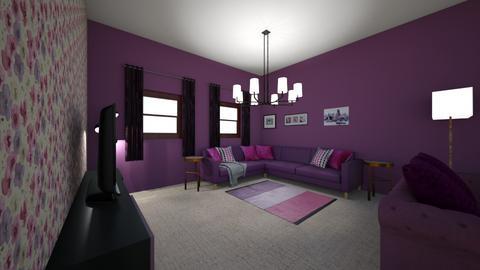 pink n purple  - Feminine - Living room  - by amackenziedesigns