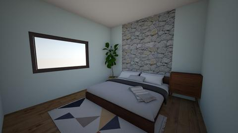Stone Wall Room - Bedroom - by ClaireCora