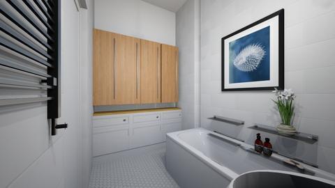 Lazien gora DUZA3b - Bathroom  - by asiaczerniawska