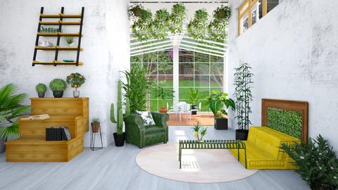 JUNGLE _HALLWAY - Living room  - by anniecleetus