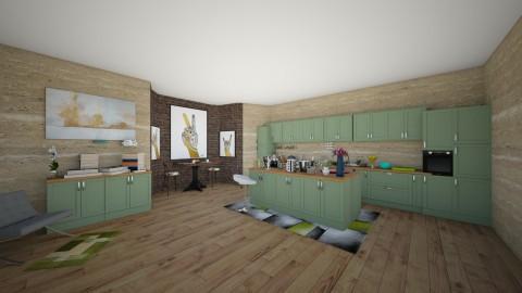 Jens and Kays kitchen - Country - Kitchen  - by malakyasir55
