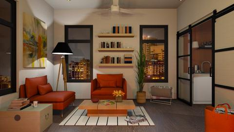 Two Room Contest - Modern - Living room  - by Sally Simpson