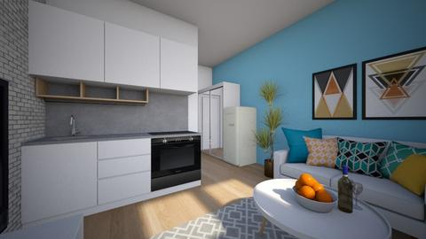 20 square meter apartment - Living room - by tj94