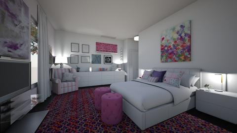 pink and purple - Kids room  - by hillygabe