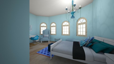 Blue room - Classic - Bedroom  - by Anvitha