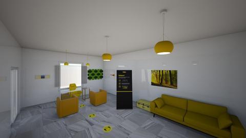 Yellow Workspace - Modern - Office  - by Charginghawks