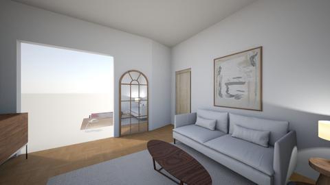 Living room rug white noa - Living room  - by MarikaMV
