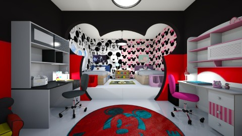 Mickey - Kids room  - by wafaabdi