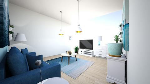 blue living room - Modern - Living room  - by I like hot co co