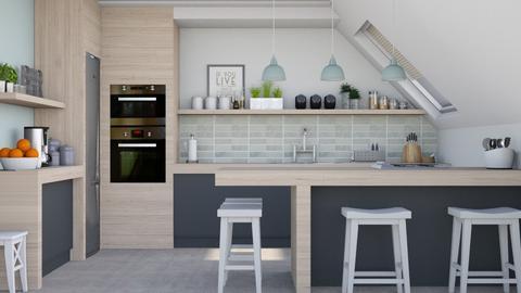 Attic kitchen - Kitchen  - by Lizzy0715