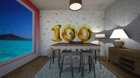 100 followers  - Dining room  - by tessmcquillan