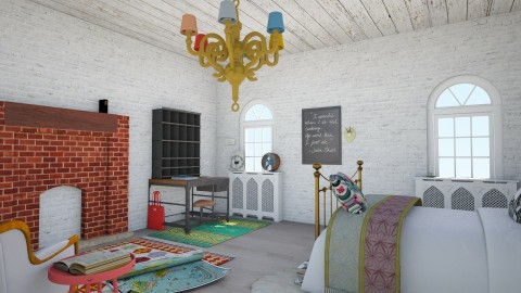 Eclectic NY - Eclectic - Bedroom  - by love Tully love