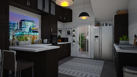 Modern City Kitchen - Modern - Kitchen  - by Kendal Peterson