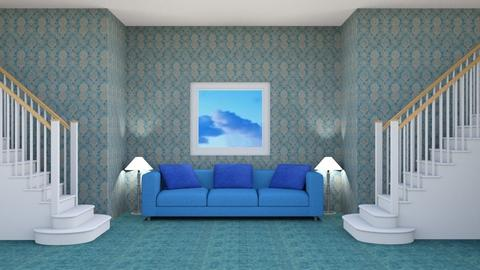 Simple blue - Living room  - by Jahsoftball_