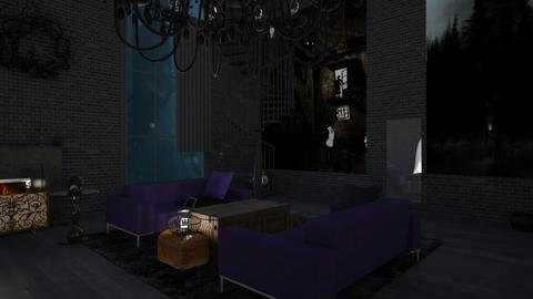 Paranormal Darkness - Living room - by vivi_morena