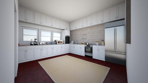Minimalist Kitchen _ Interior Design Assignment - Kitchen  - by yuhig234