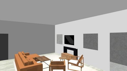 Kelly and Ian Apt - Modern - Living room  - by kbudish