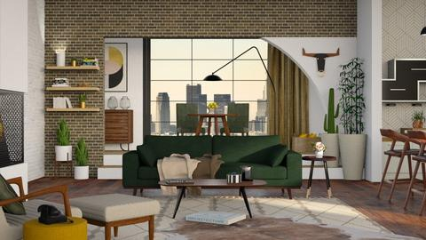 Mid Century Living - Modern - Living room - by Roquette