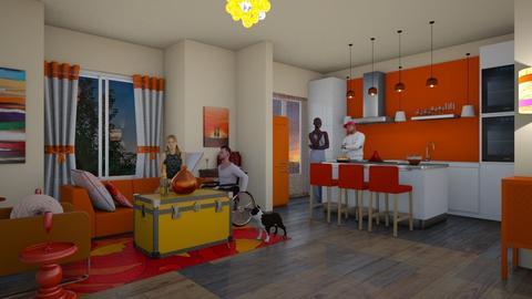 orangucan - Living room  - by emivim