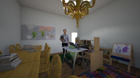 kindergarten room - by Percilla Dyke