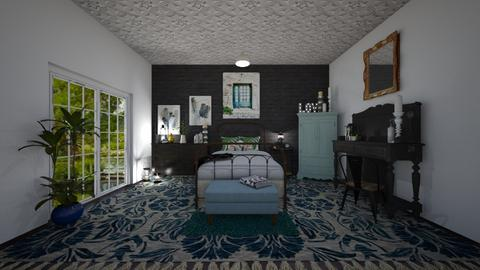 Cool Blue - Bedroom - by Jodie Scalf