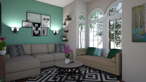 Vikendica - Country - Living room  - by LiverbirdJ