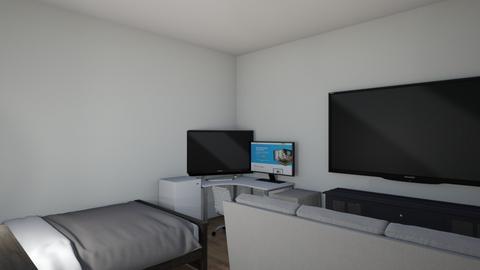 Gaming bedroom - Modern - Bedroom  - by peko_x